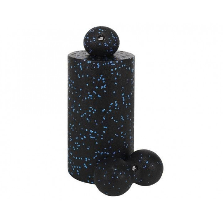 A set of massage rollers and balls for massaging trigger points, muscle relaxation, yoga, stretching, stretching
