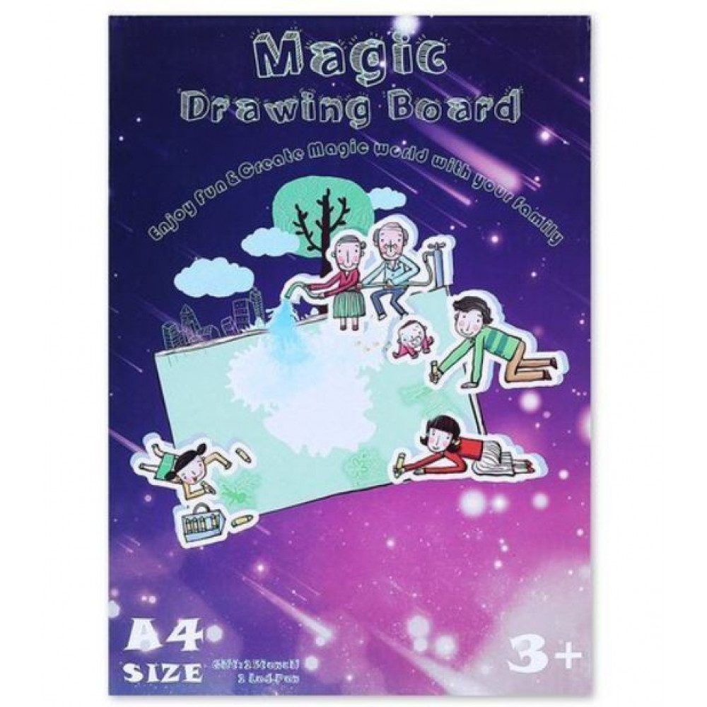 Masgic pad light drawing set, interactive educational A4 board for children