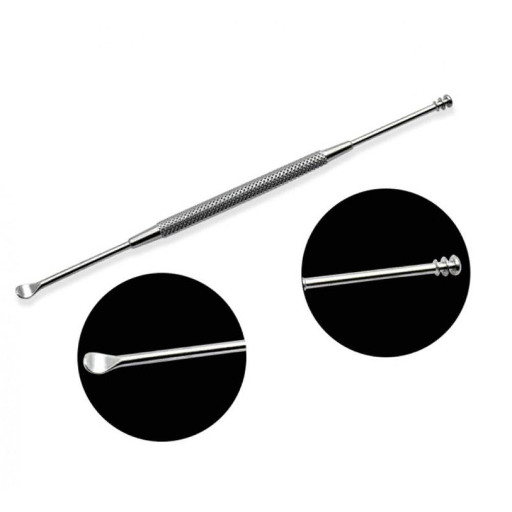 Mimikaki reusable steel cotton swab earpick for safe ear cleaning