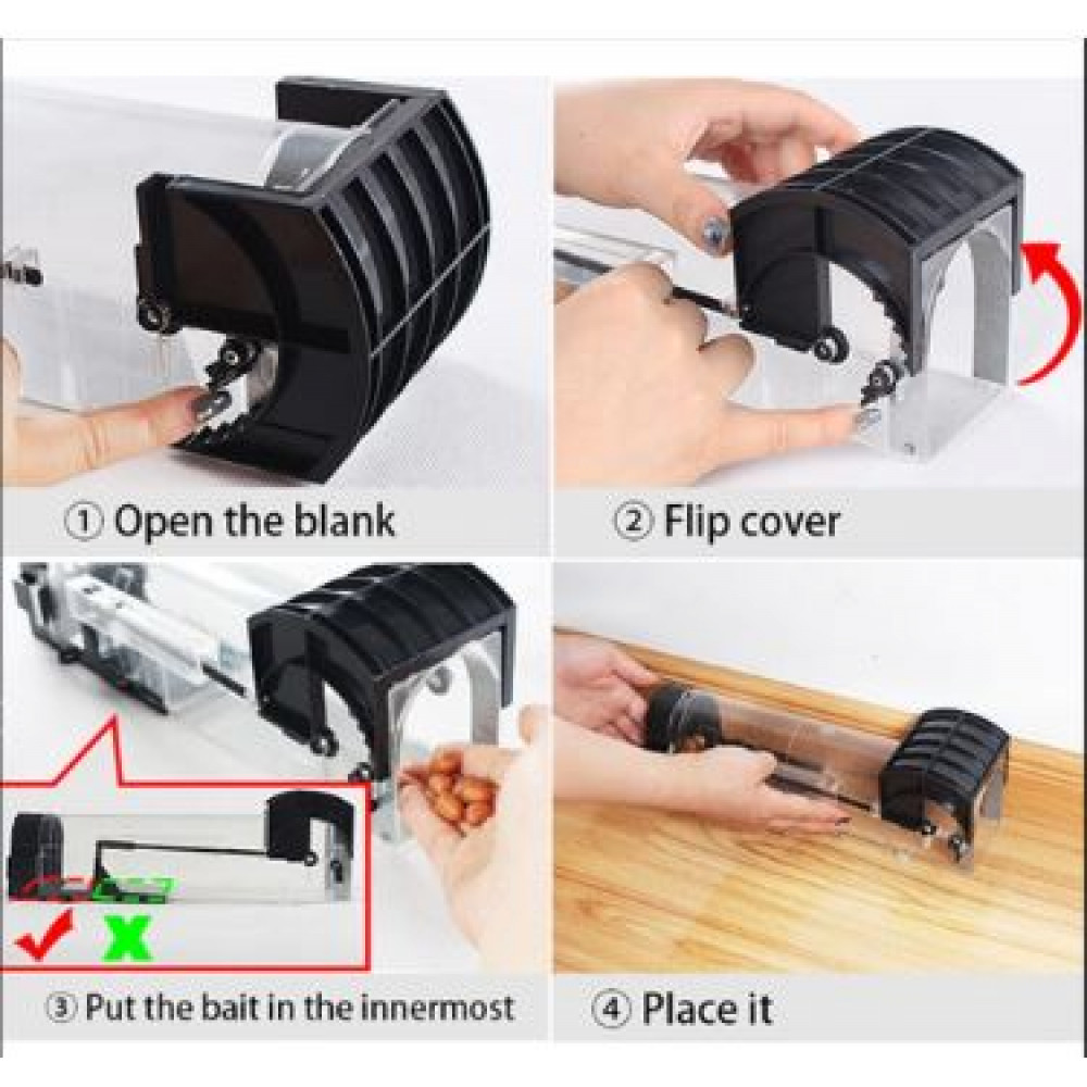 Humane reusable mouse trap for mice and rats, for rodent control
