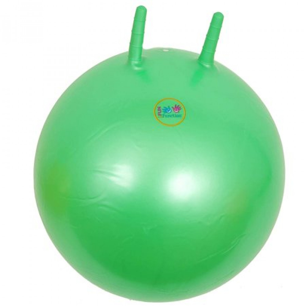 Inflatable ball with handles horns for gymnastics, yoga, fitness, rehabilitation and jumping