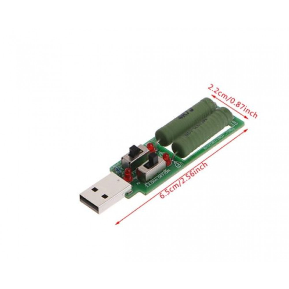USB constant resistance module for battery capacity testers