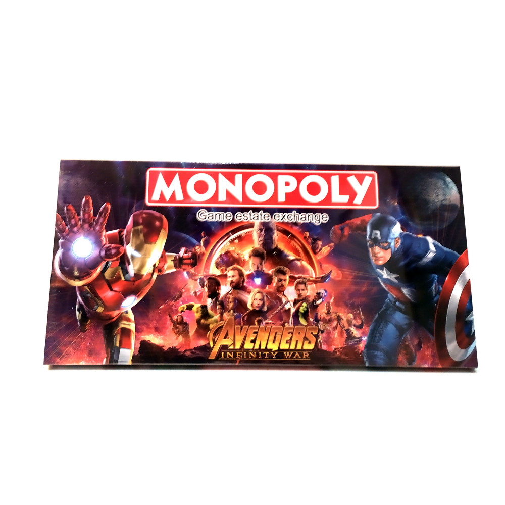 Board Game Monopoly Marvel Superheroes Avengers Infinity War