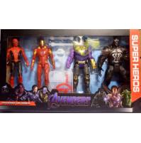 Collectible Marvel Avengers Superhero Figures - Black Panther, Iron Man, Thanos, Venom, Batman, Black Lightning, Captain America, Hulk, Thor
