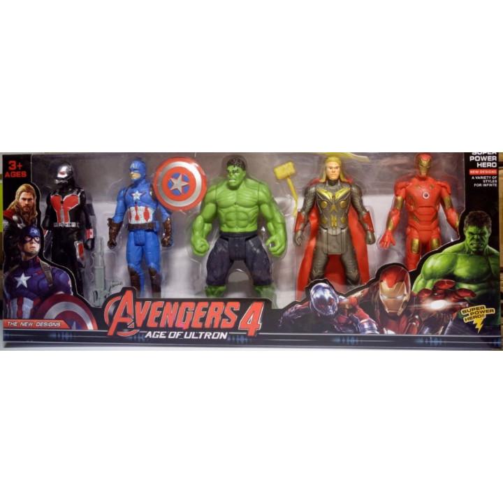 Collectible Marvel Avengers Superhero Figures - Captain America, Hulk, Thanos, Thor, Iron Man