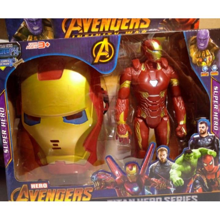 Marvel Avengers Collectible Figures - Thanos, Thor, Iron Man, Black Panther, Captain America, Captain Marvel, Hulk