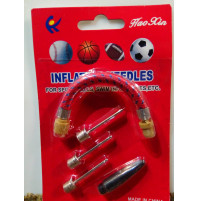 Nozzles for inflating mattresses, balls, bicycle tires