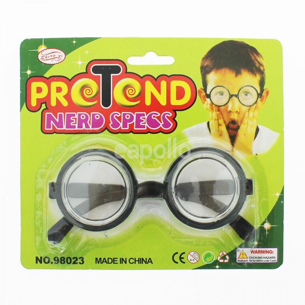Glasses for nerd, carnival accessory