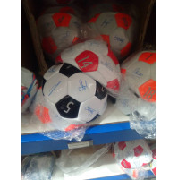 Autographed soccer ball of your favorite team - a surprise gift to a young man or boy