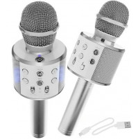 Stylish karaoke microphone for kids, with speaker and music playback function