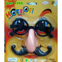 Glasses with nose and mustache - accessory for Halloween or carnival