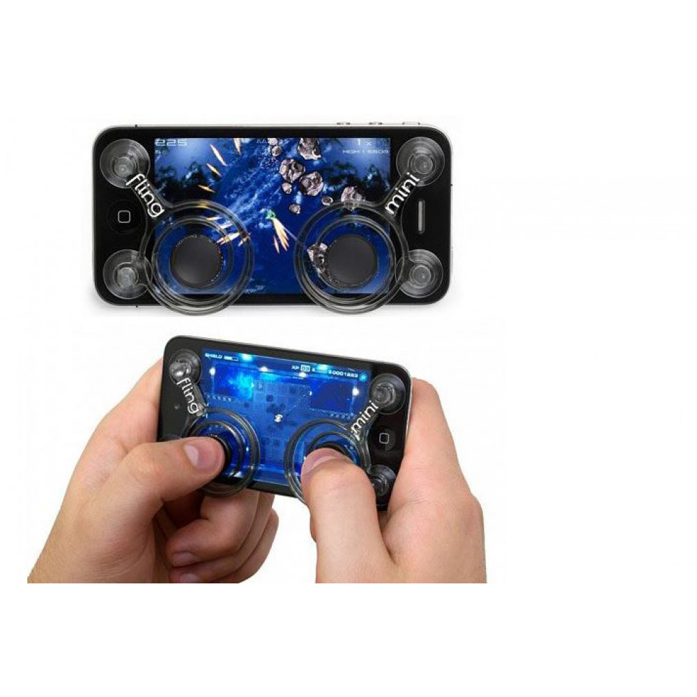 Suction Cup Joystick Buttons for Smartphone Games