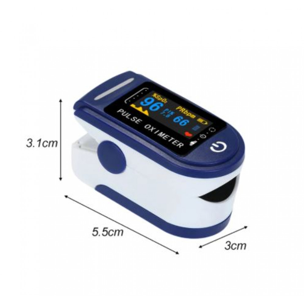 Oximeter for measuring the amount of oxygen in the blood and determining the pulse