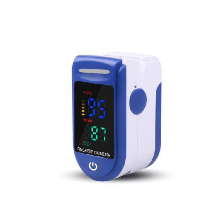 Oximeter for measuring pulse and the amount of oxygen in the blood