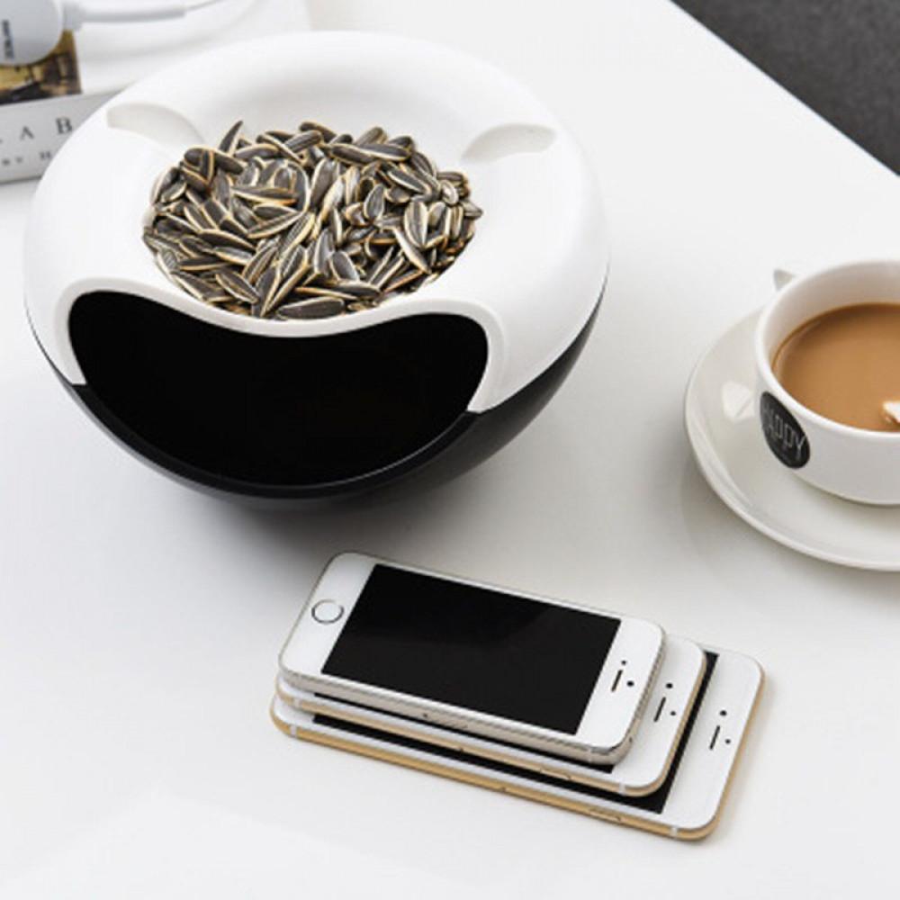 Fashion Snacks Desktop Storage Box Multifunction Phone Stand Holder Container Organizer Home Accessories Supplies
