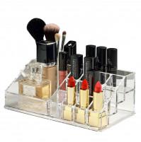 Ergonomic makeup organizer