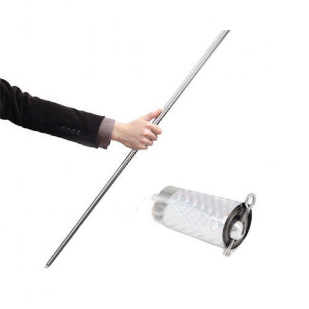 Saliekamā portatīvā neredzamā nūja (bastons, nūja cīņas mākslām, dzjo)