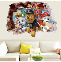 3D sticker decor for kids room Paw Patrol