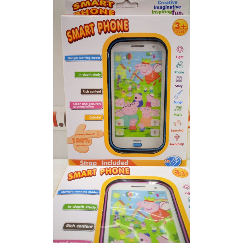 Interactive 4D smartphone with the hero of the popular cartoon - Peppa Pig