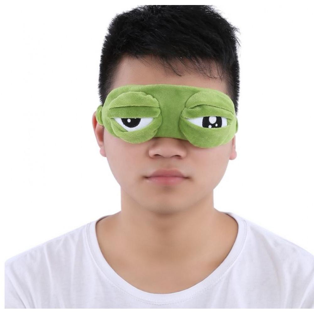 Gulēšanas maska, aukstuma maska, vardes Pepe acis 2 in 1