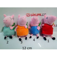 Soft toys from the cartoon Peppa Pig - Peppa Pig, Daddy Pig, Mommy Pig, George