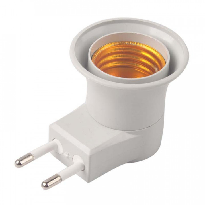 Adapter from 220v plug to bulb holder for E27 with switch