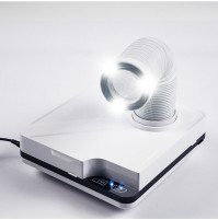 Vacuum cleaner - dust collector with LED backlight and different nozzles for manicure and pedicure