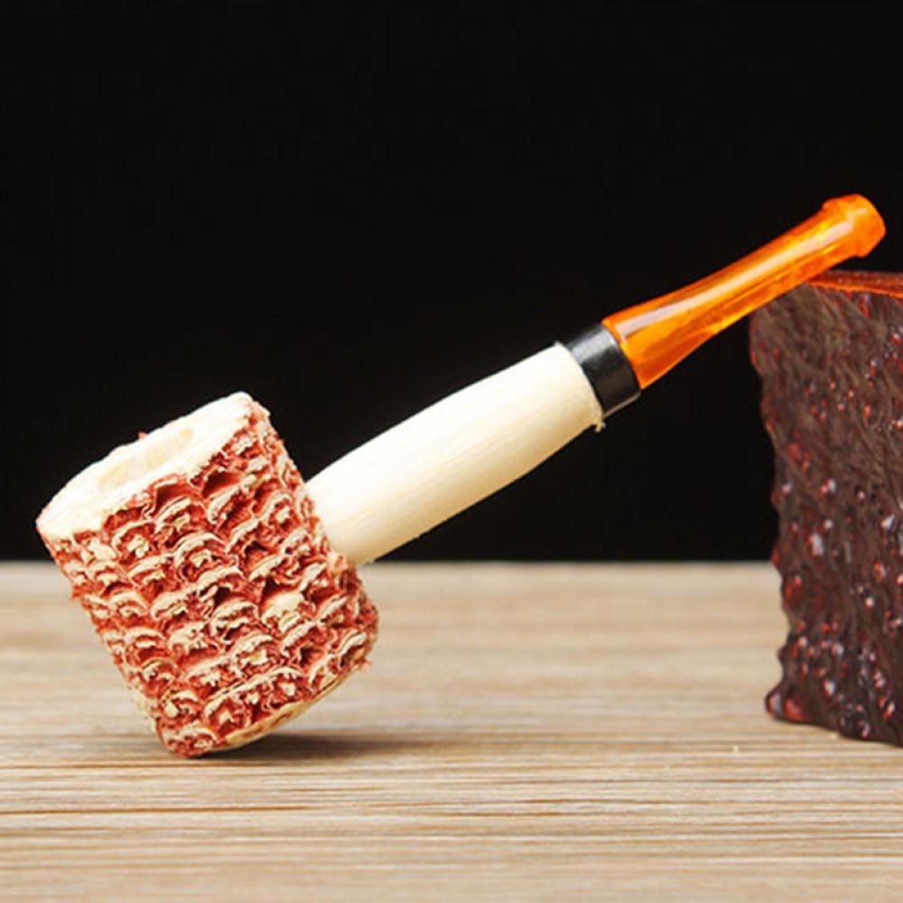 Corncob smoking pipe