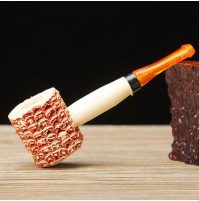 Corncob smoking pipe