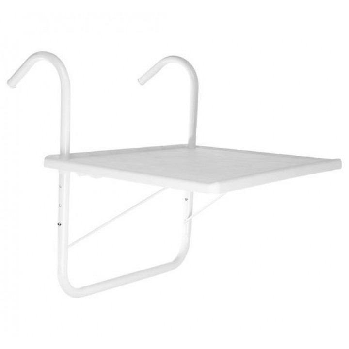 Hang - up ergonomic adjustable computer table on the balcony, windowsill - for laptop, screen, flowers, lunch