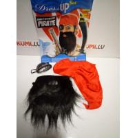 Set of real pirate - beard, bandana and blindfold