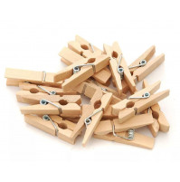 Small decorative clothespins for creating garlands from photographs or drawings
