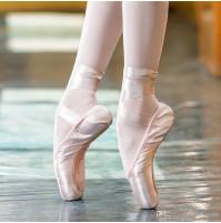 Ballet satin pointe shoes