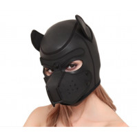 Sexy neoprene mask for adult role-playing games, cute BDSM puppy dogs