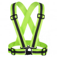 Elastic adjustable reflective safety belts
