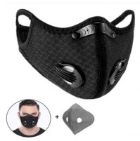 Reusable KN 95 / 5 Dust Mask with Double Breathing Valve Activated Carbon PM2.5 Filter Anti-pollution Anti-smog Respirator