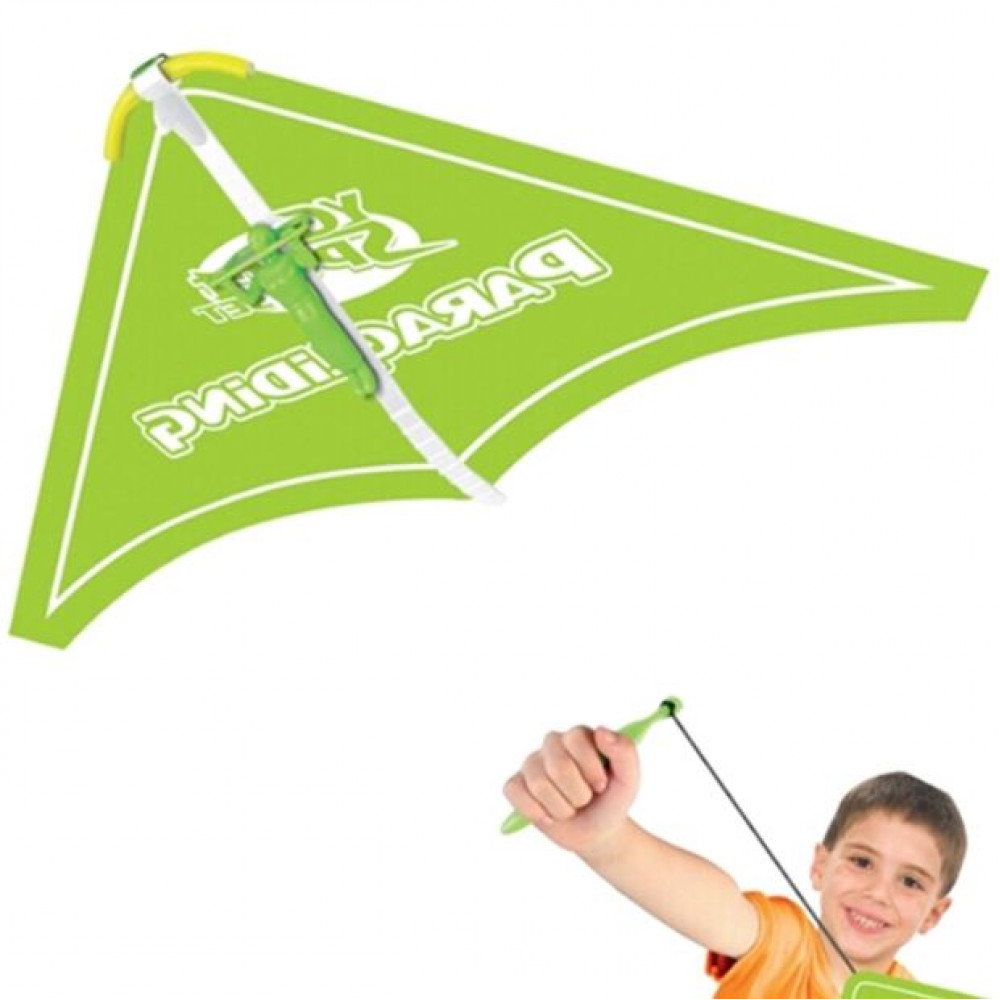 Bright kite - hang glider with launching slingshot