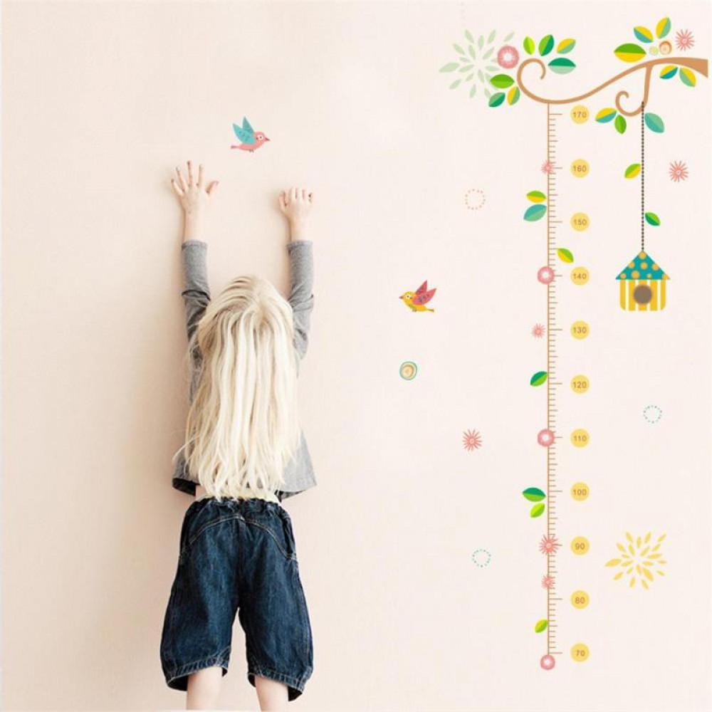 Jauna dizaina stilīgas bērnu istabas sienas uzlīmes ar auguma mēru