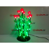 Christmas LED lamp - glowing roses