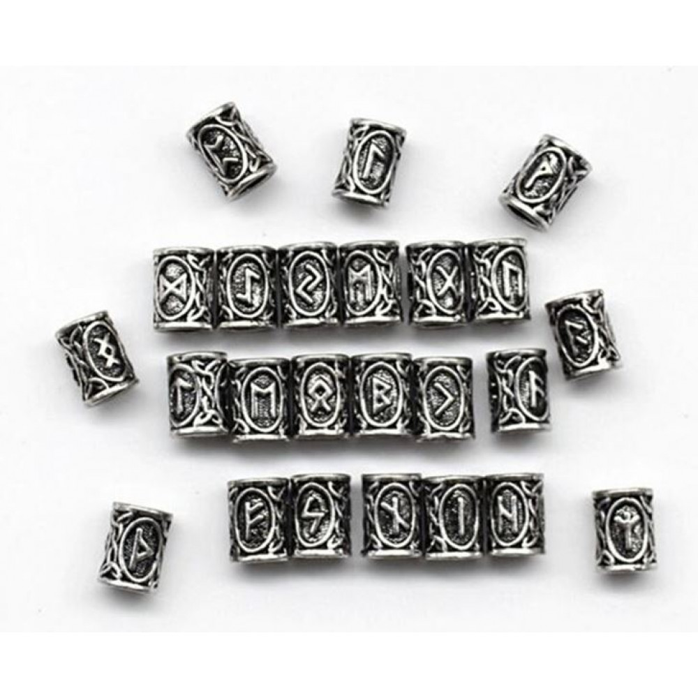 Beads of charms in the form of traditional Scandinavian runes, an idea for a protective bracelet