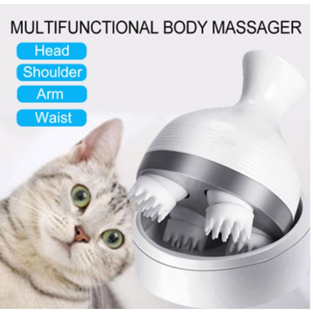 Comfortable Scalp 3D Offset Roller Massager for Improving Circulation and Stress Relief - For Pets and People