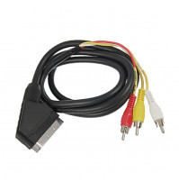 Ultra Scart cable male to 3x RCA male to connect tuner or DVD player to TV