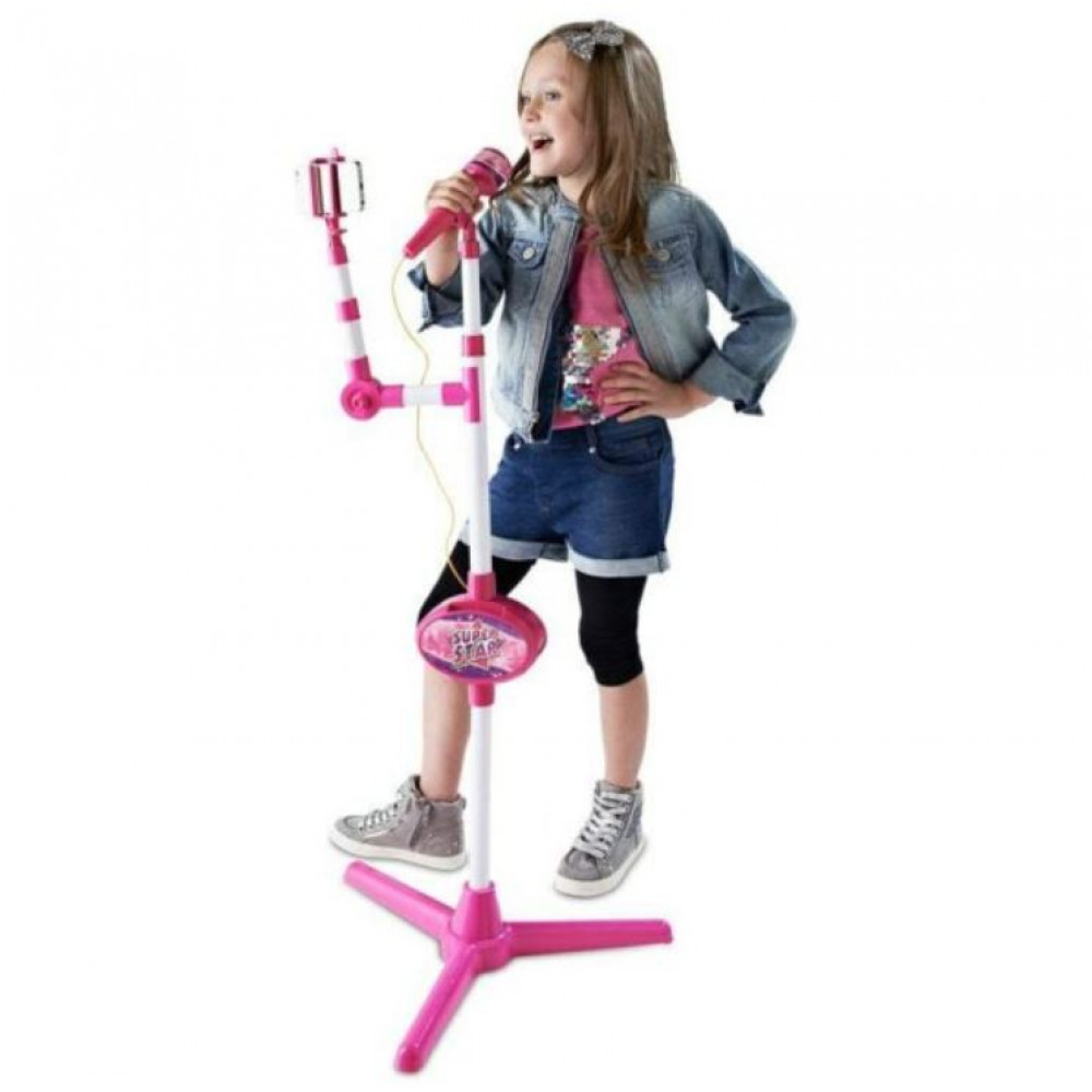 Children's interactive microphone with stand and tripod for smartphone Selfie Microphone for filming on YouTube, Instagram, Tik Tok