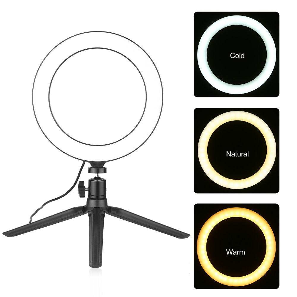 Circular lamp - dimmable photo and video lighting, selfies, blogging, live broadcasts, portraits, videos, TikTok, Instagram