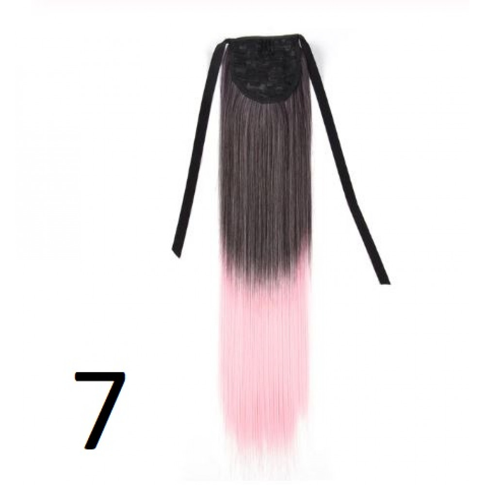 Heat-resistant fiber patch chignon on ribbons or hairpins