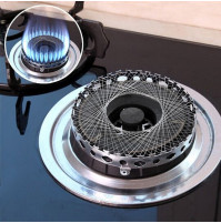 Stainless Steel Gas Cooker Gas Stove Torch Net Windproof Energy Saving Circle Cover Case Mesh Kitchen Accessories