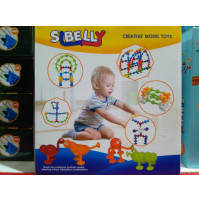 The constructor - Sibelly stickies (39 pcs) for children from 2 years