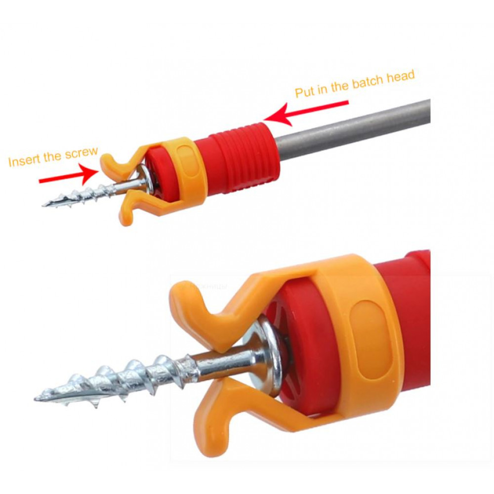 Safe fixing holder for screws, self-tapping screws for a drill, screwdriver, screwdriver