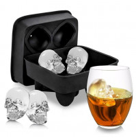 Large Ice Cube Tray Pudding Mold 3D Skull Silicone