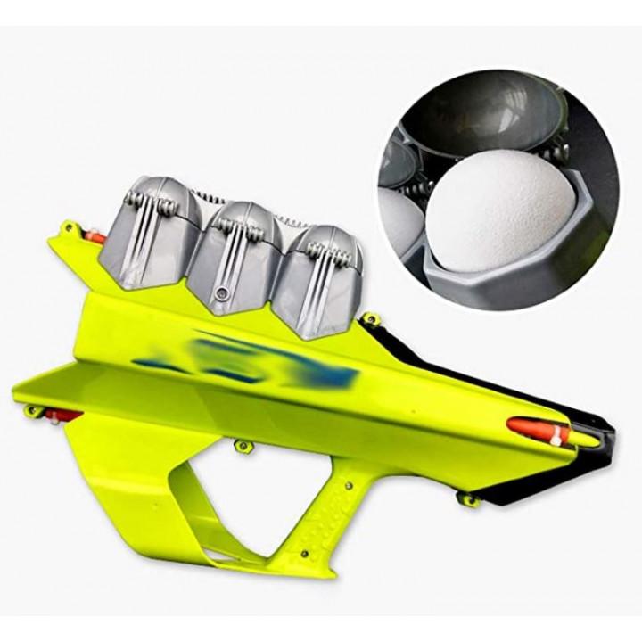 Automatic pistol for snowballs, snowblaster